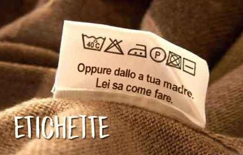 Etichette e vestiti